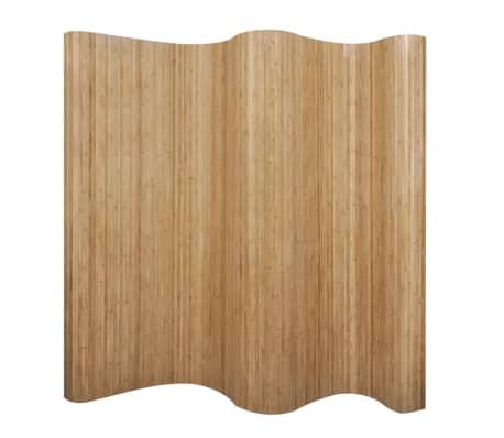 vidaXL Biombo/divisória de sala 250x195 cm bambu natural[1/4]