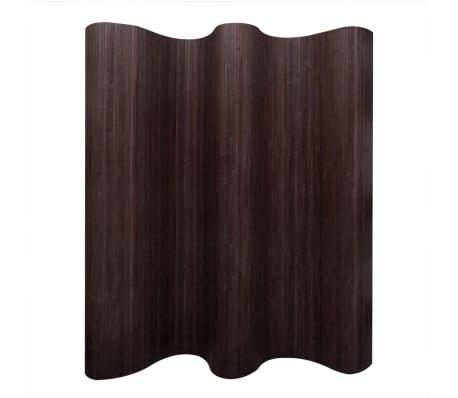 vidaXL Tilanjakaja bambu 250x165 cm tummanruskea