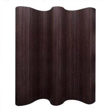 vidaXL Kambario pertvara iš bambuko, tamsiai ruda, 250x195 cm[1/4]