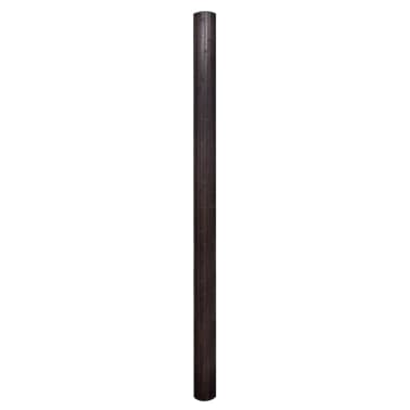 vidaXL Kambario pertvara iš bambuko, tamsiai ruda, 250x195 cm[2/4]