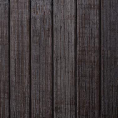 vidaXL Kambario pertvara iš bambuko, tamsiai ruda, 250x195 cm[4/4]