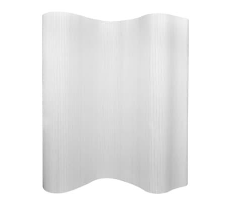 vidaXL Tilanjakaja bambu 250x165 cm valkoinen