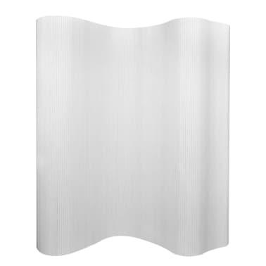 vidaXL Tilanjakaja bambu 250x195 cm valkoinen[1/4]