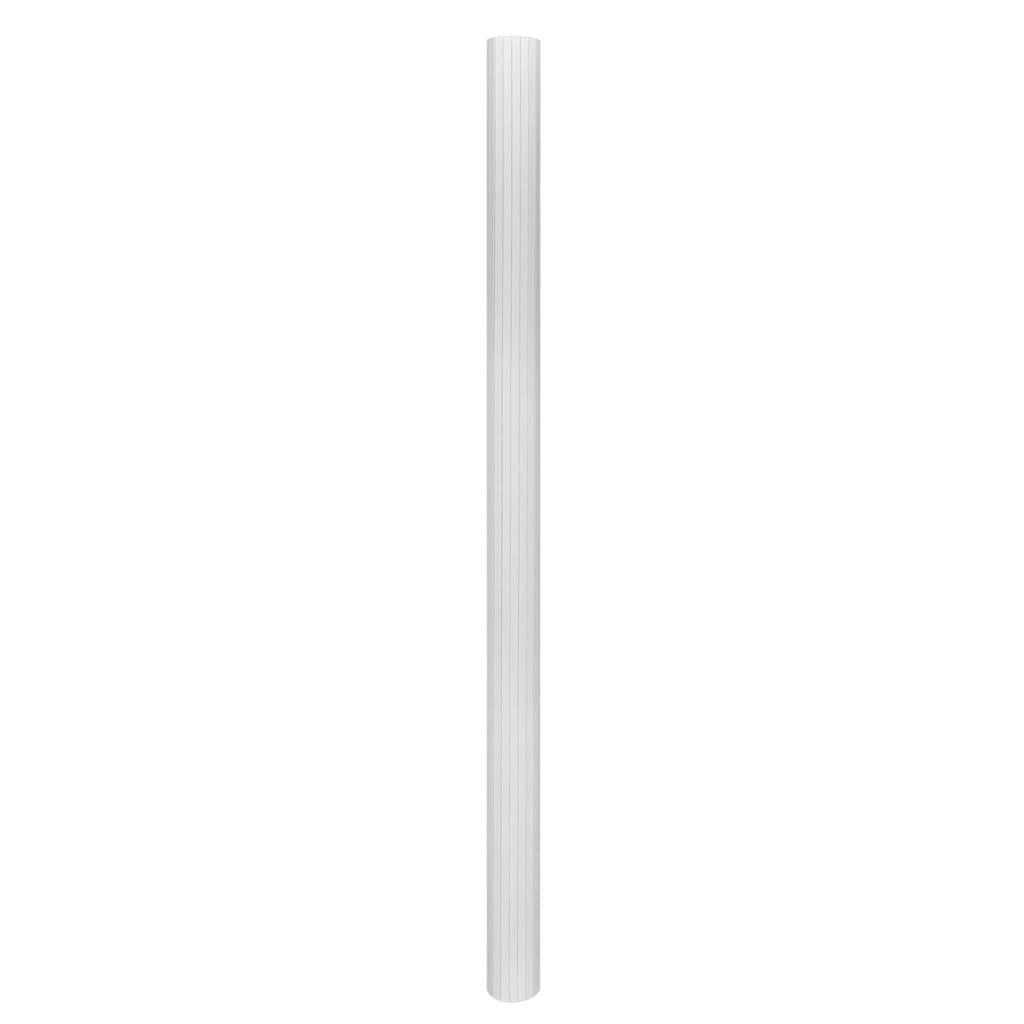 99241670 Raumteiler Bambus Weiß 250×195 cm
