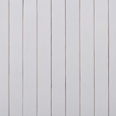 vidaXL Tilanjakaja bambu 250x195 cm valkoinen[4/4]