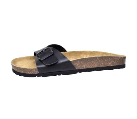 Svart unisex kork sandal med 1 spännrem storlek 39[4/6]