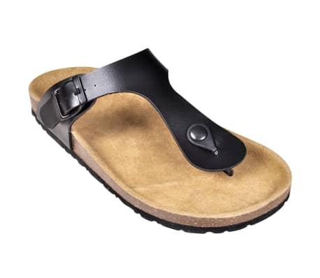 Svart Unisex Bio Sandaler med Korksåle Flip-Flops Design 38[3/6]