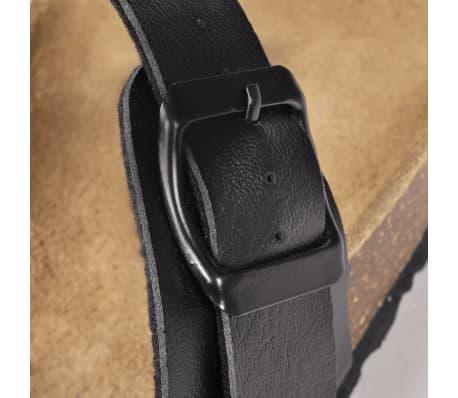 Svart Unisex Bio Sandaler med Korksåle Flip-Flops Design 38[5/6]