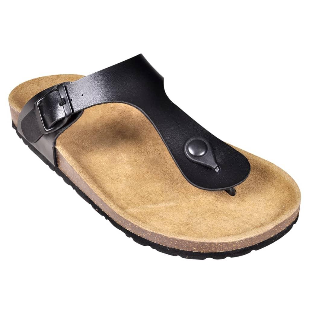 ceb63ca6c91 vidaXL Korktallaga sandaalid mõlemale soole, suurus 39 must