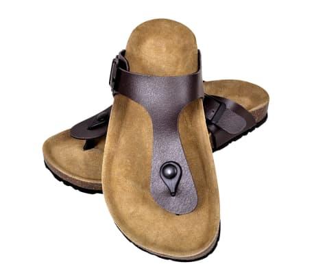 Brun Unisex Bio Sandaler med Korksåle Flip-Flops Design 38[1/6]