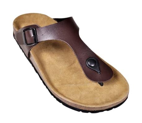 Brun Unisex Bio Sandaler med Korksåle Flip-Flops Design 38[3/6]