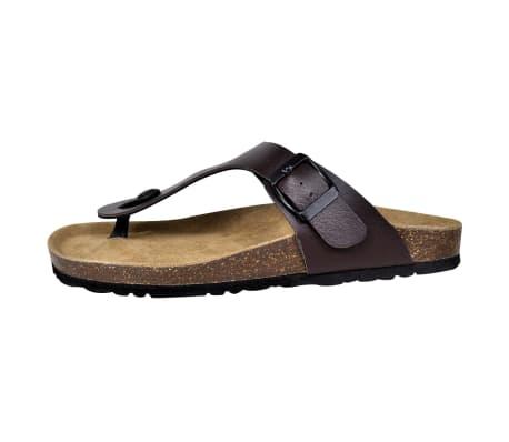 Brun Unisex Bio Sandaler med Korksåle Flip-Flops Design 38[4/6]