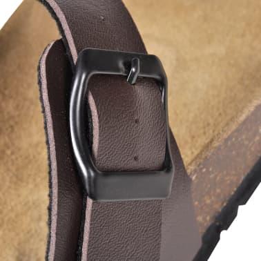 Brun Unisex Bio Sandaler med Korksåle Flip-Flops Design 38[5/6]