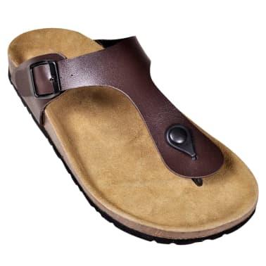 Braune Unisex Biokork-Sandale im Flip Flop-Design Größe 41[3/6]