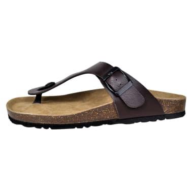 Braune Unisex Biokork-Sandale im Flip Flop-Design Größe 41[4/6]