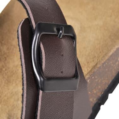 Braune Unisex Biokork-Sandale im Flip Flop-Design Größe 41[5/6]