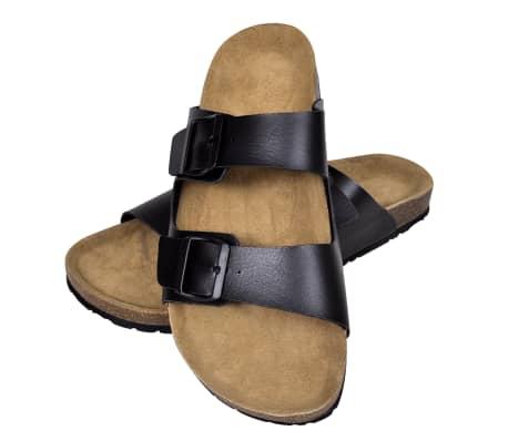 Sandalen met 2 bandjes met gesp maat 40 (zwart) (unisex)[1/6]