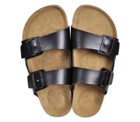 Sandalen met 2 bandjes met gesp maat 40 (zwart) (unisex)[2/6]