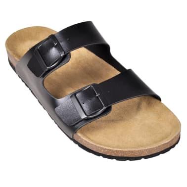 Sandalen met 2 bandjes met gesp maat 40 (zwart) (unisex)[3/6]