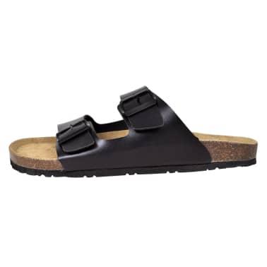 Sandalen met 2 bandjes met gesp maat 40 (zwart) (unisex)[4/6]