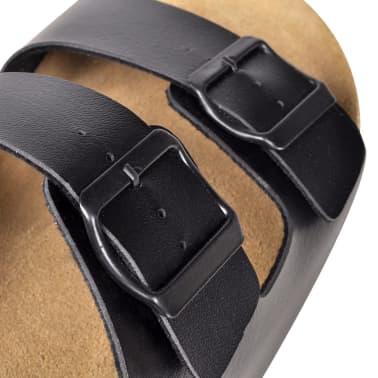 Sandalen met 2 bandjes met gesp maat 40 (zwart) (unisex)[5/6]