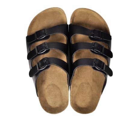 Sandalen met 3 bandjes met gesp maat 41 (zwart) (unisex)[2/6]