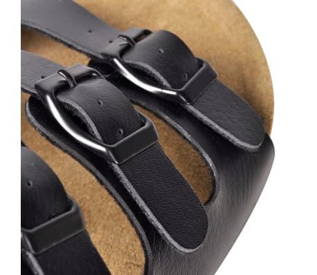 Sandalen met 3 bandjes met gesp maat 41 (zwart) (unisex)[5/6]