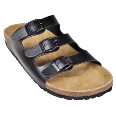 Sandalen met 3 bandjes met gesp maat 41 (zwart) (unisex)[3/6]