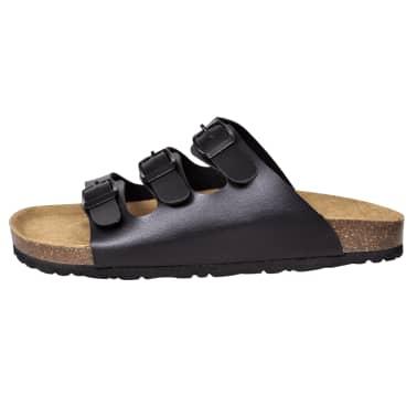 Sandalen met 3 bandjes met gesp maat 41 (zwart) (unisex)[4/6]