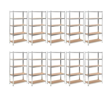 vidaXL Heavy-duty Storage Rack 10 pcs[1/8]
