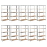 vidaXL Heavy-duty Storage Rack 10 pcs
