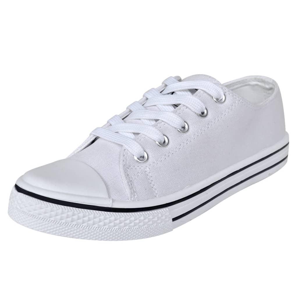 Klasické dámské nízké tenisky textilní, bílé, velikost 37