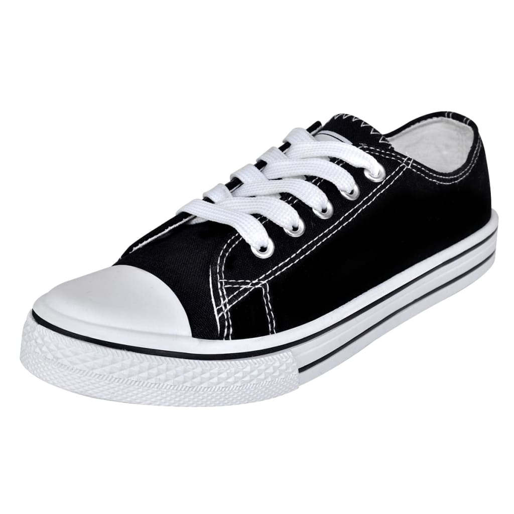 Klassieke lage dames sneakers zwart (maat 37)
