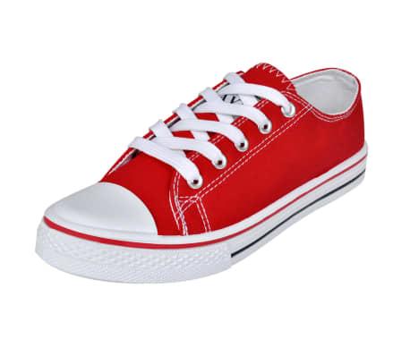 Klassieke lage dames sneakers rood (maat 36)[1/6]