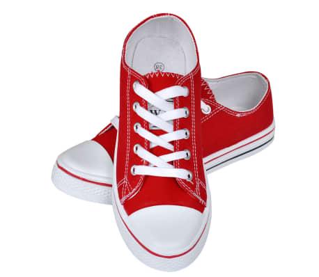 Klassieke lage dames sneakers rood (maat 36)[5/6]
