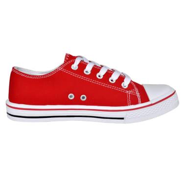 Klassieke lage dames sneakers rood (maat 36)[2/6]