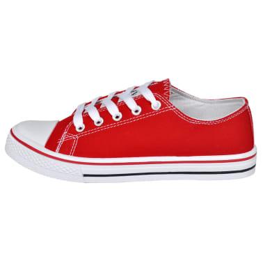 Klassieke lage dames sneakers rood (maat 36)[3/6]