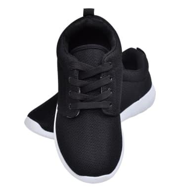 Frauen Schnürschuhe Laufschuhe Sportschuhe schwarz Größe 39