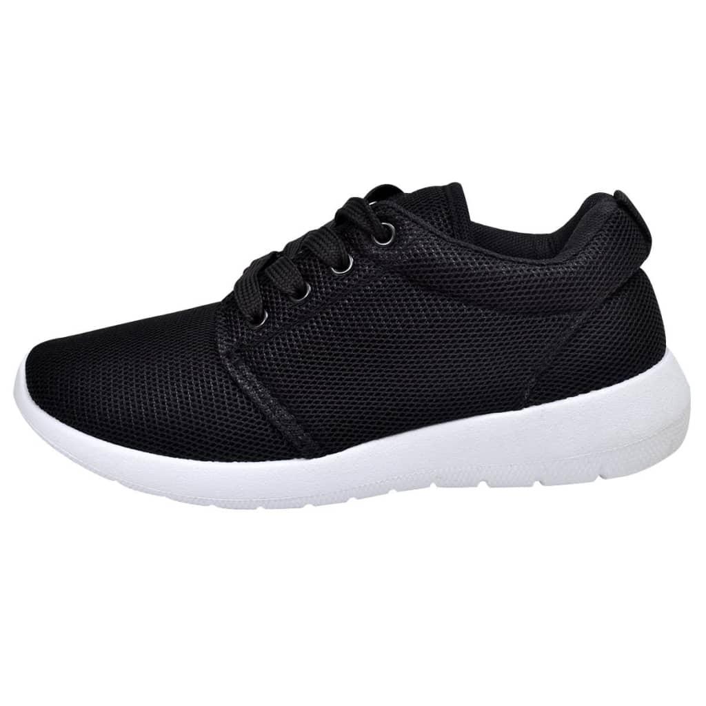 Dámské běžecké boty s tkaničkami černá barva velikosti 40