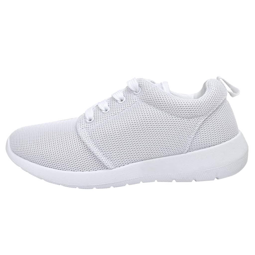 Dámské běžecké boty s tkaničkami bílá barva velikosti 37