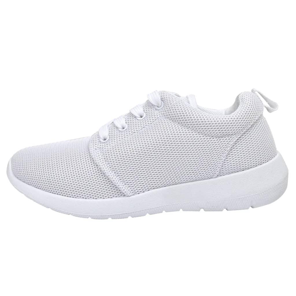 Dámské běžecké boty s tkaničkami bílá barva velikosti 38