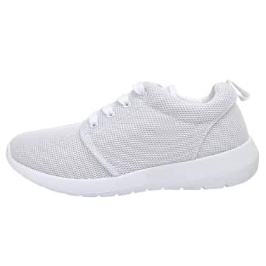 Sportschoenen met veters voor dames wit (maat 38) | vidaXL.nl