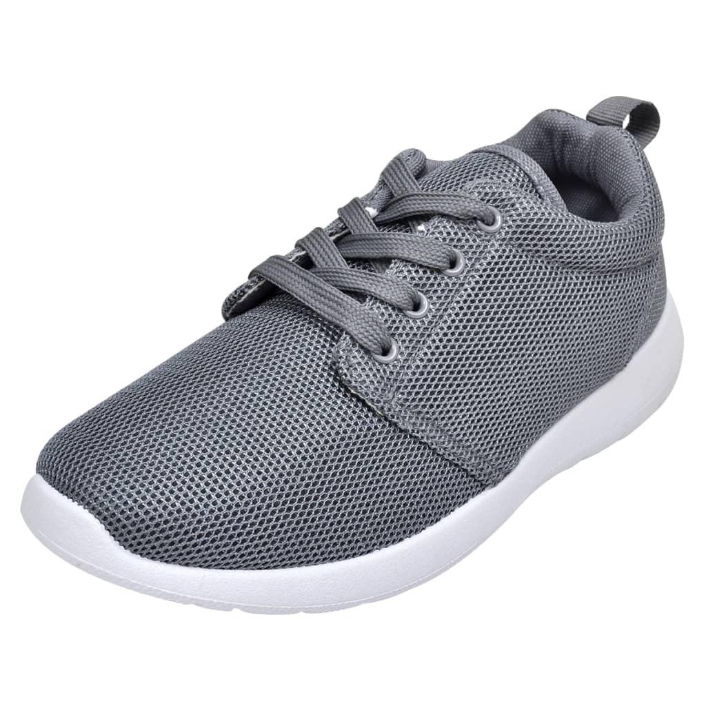 vidaXL Sportschoenen met veters voor dames grijs (maat 36)