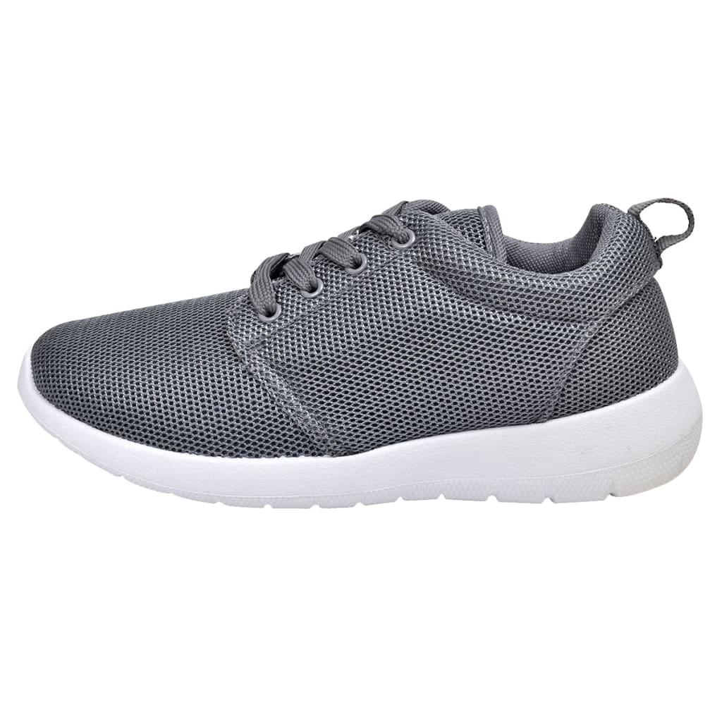 Pantof sport de damă, cu șiret, mărime 37, gri poza vidaxl.ro