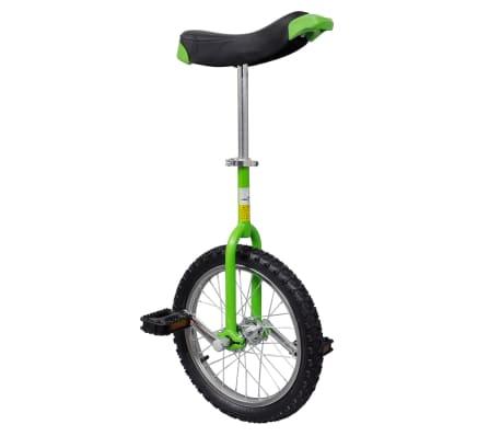Zelená nastaviteľná jednokolka, priemer kolesa 40,7 cm