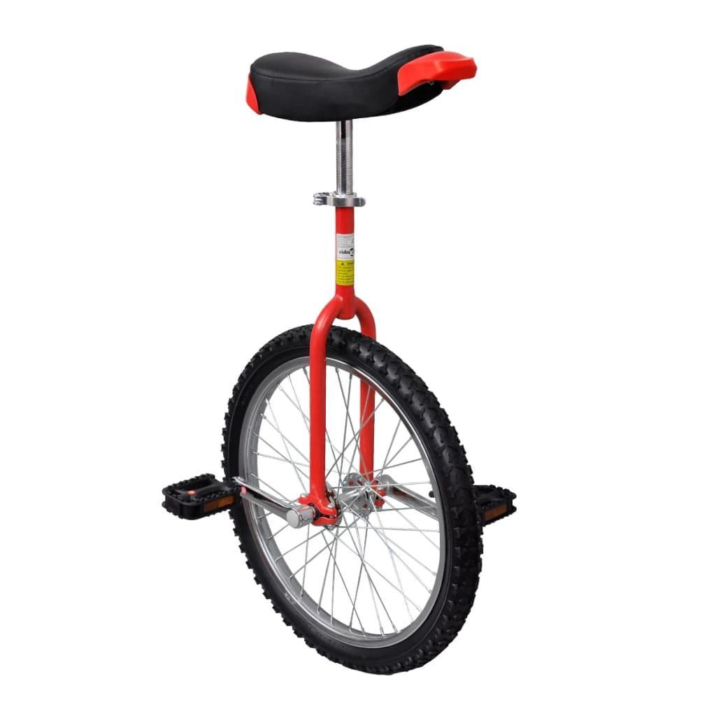vidaXL Monociclo ajustável vermelho 50,8 cm (20