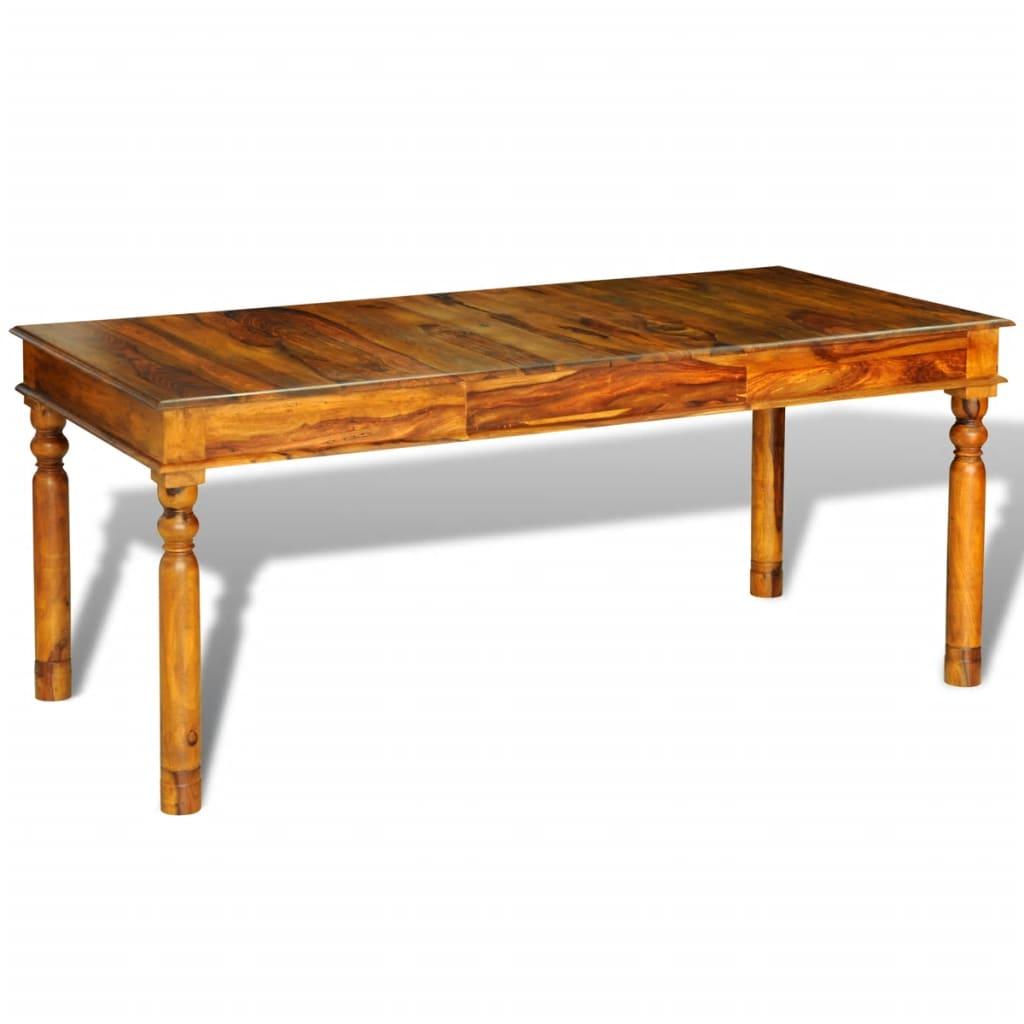 Jídelní stůl z masivního sheeshamu, koloniální styl 180x85x76 cm