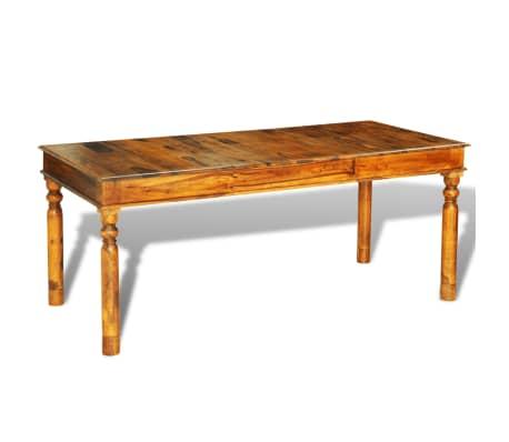 vidaXL Tavolo da Pranzo 180x85x76 cm in Legno Massello di Sheesham ...
