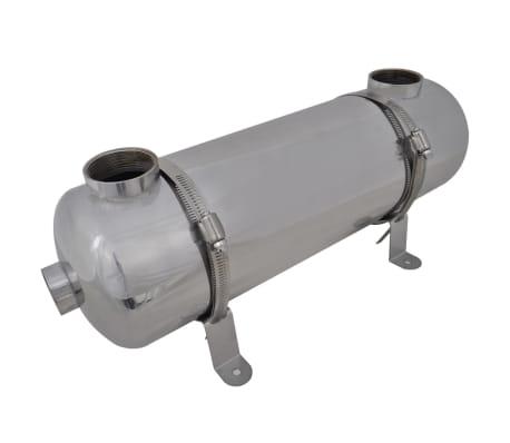 vidaXL varmeveksler til pool 485 x 134 mm 60 kW