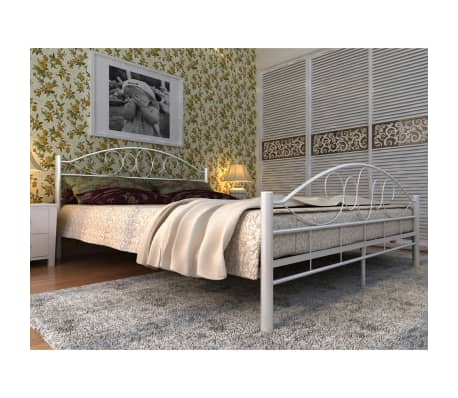 Top Matrassen Traagschuim.Metalen Bed Traagschuim Matras Top Matras 180 Cm Wit Vidaxl Nl